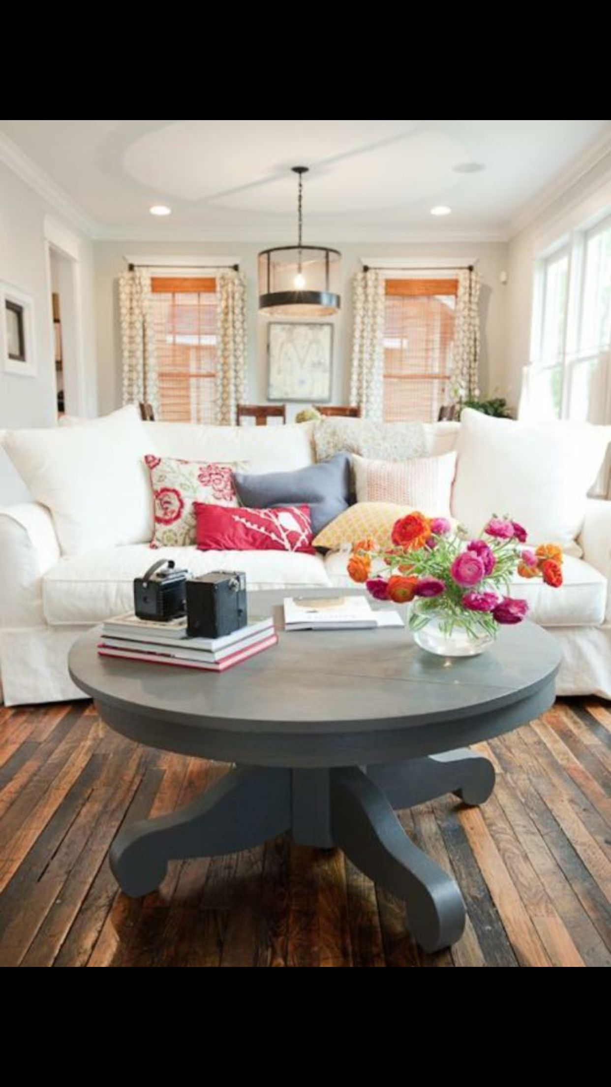 Rustic round coffee table comfort living  home sweet home  pinterest