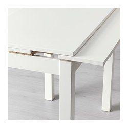 BJURSTA Mesa extensible, blanco - IKEA   Home Etxerako
