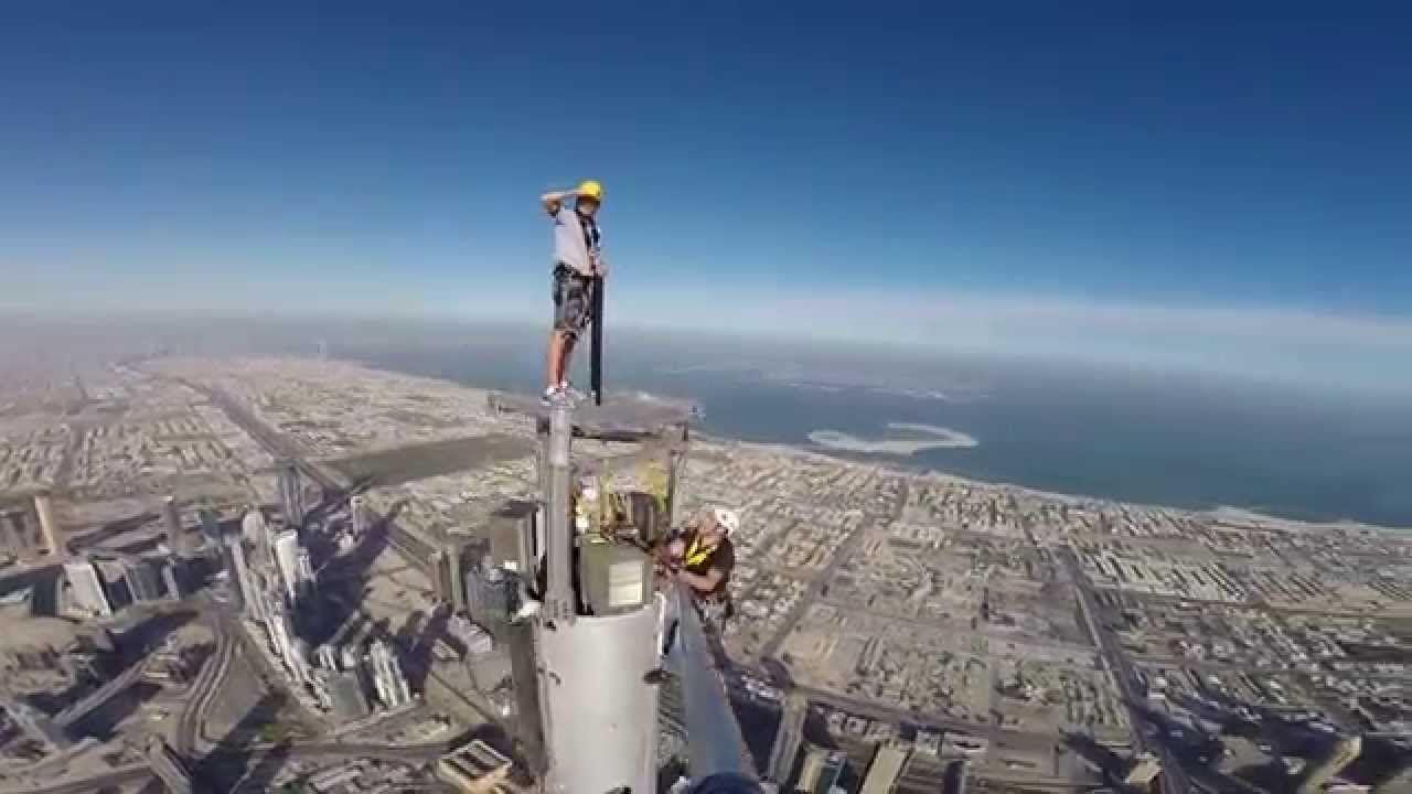 Burj Khalifa Platform Inspection Top Of The Spire Andy Veall Tower Spires Burj Khalifa