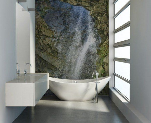 awesome small bathroom decoration ideas photo wallpaper waterfall ...