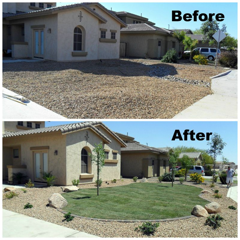 awesome before and after desert landscaping