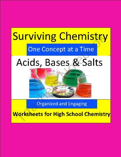 Acids bases salts organized engaging worksheets for high acids bases salts organized engaging worksheets for high school chemistry product from fandeluxe Images
