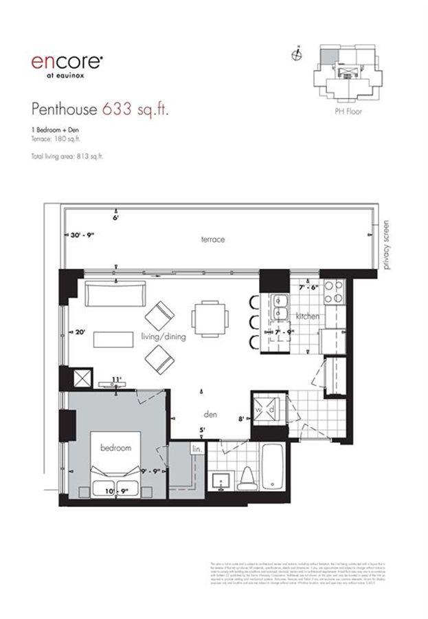 Encore At Equinox Penthouse Plan 633 1 1br 633sqft