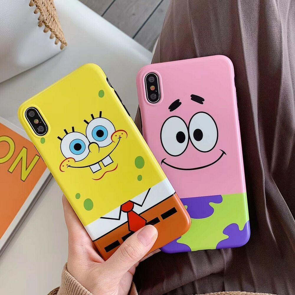 Cartoon spongebob lovers soft unbreak phone case cover for