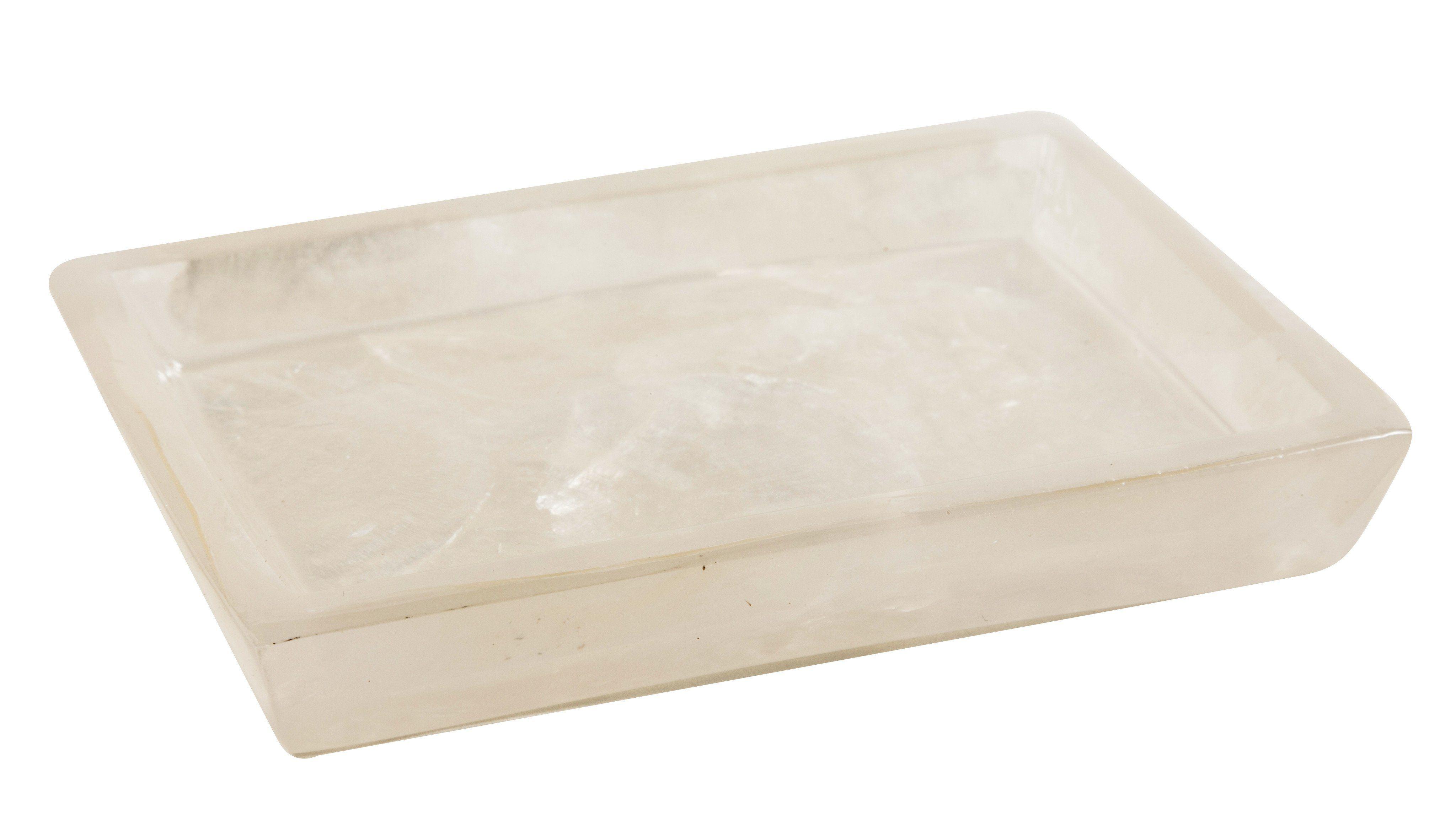 CP Perla Rectangular Soap Dish Holder Tray Soap Holder, Mother of Pearl, Resin