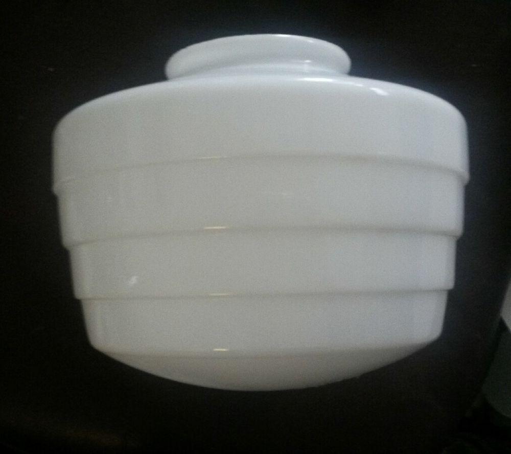 "Art Deco Milk Glass Four Tier Ceiling Light Cover Replacement Shade 3.75"" Fitter #ArtDeco"