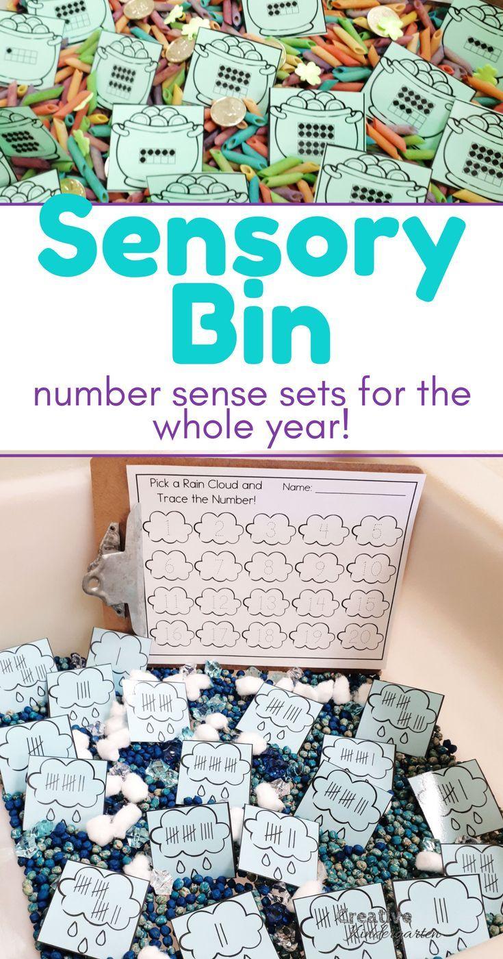 Ten Sensory Bin Number Sense Sets for Kindergarten in English and ...