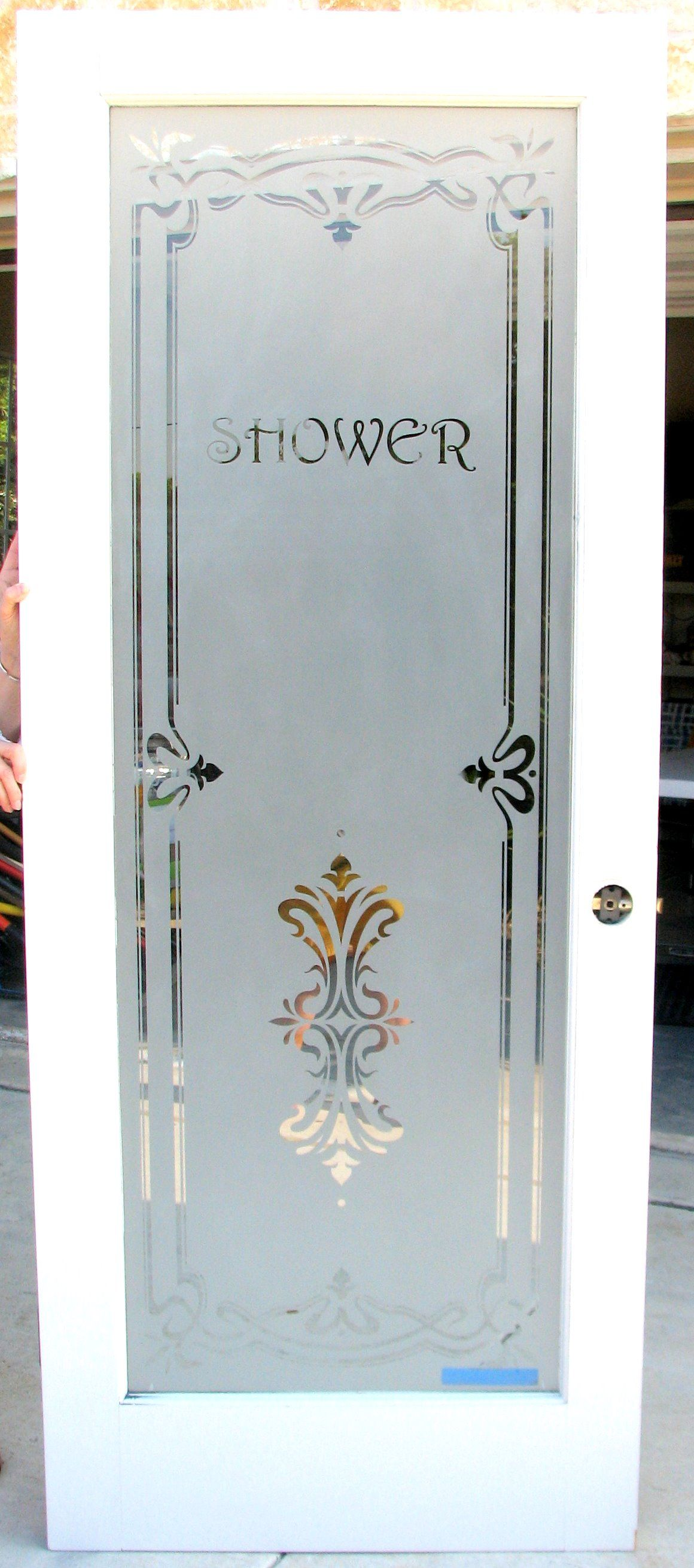 Glass Bathroom Doors Texas Etched Glass San Antonio Etched Glass