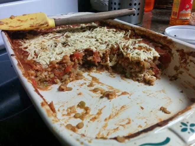 Chubby Vegan Mom: Vegan stuffed peppers for dummies (in casserole form)