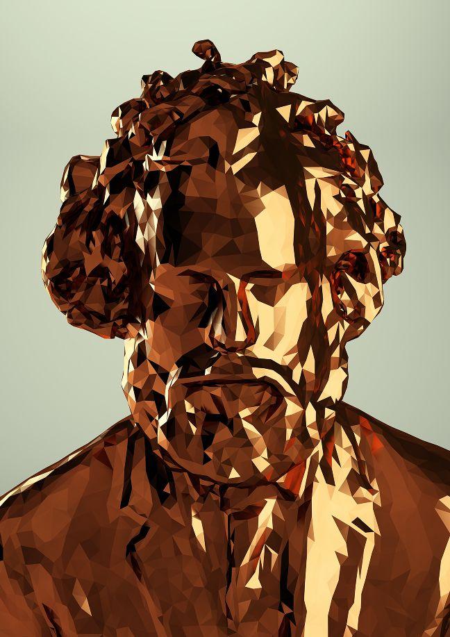 Portraits multi-dimensionais criados com o Kinect por Mike Pelletier