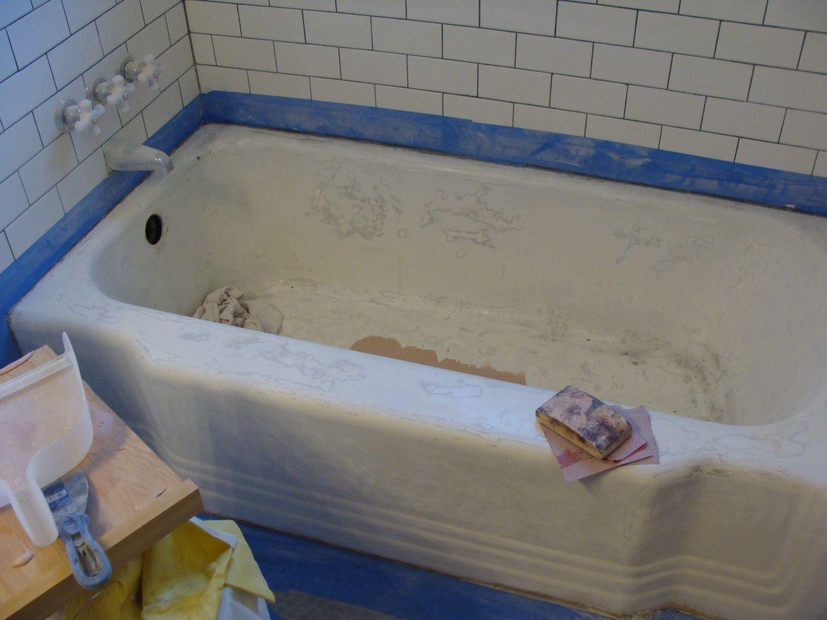 Bathroom Overhaul Chapter 3 The Tub With Images Tub Refinishing Cast Iron Tub Refinish Diy Bathroom Remodel