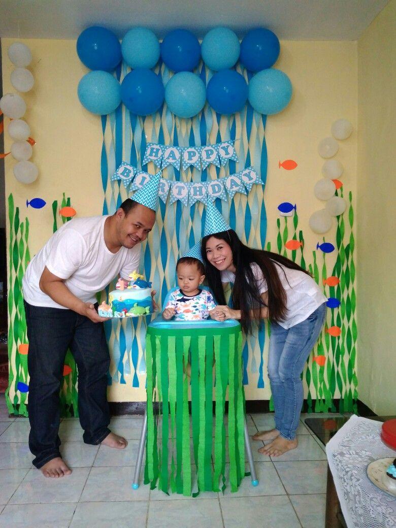 Baby Shark Anibal Hiram Boy First Birthday Nd Parties Ideas Also Smash Cake Little Theme Mexico