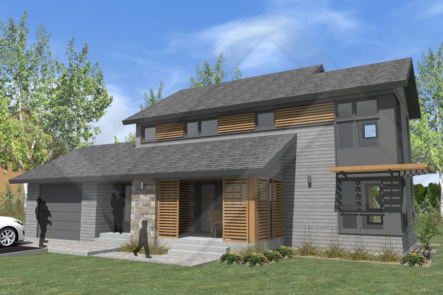 Rochette Construction - Notre modèle la Vallée Plan personnalisé - maison contemporaine plan gratuit
