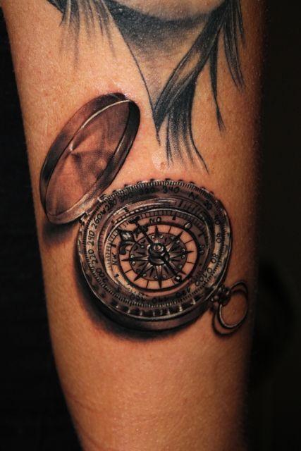 kompass tattoo vorlage