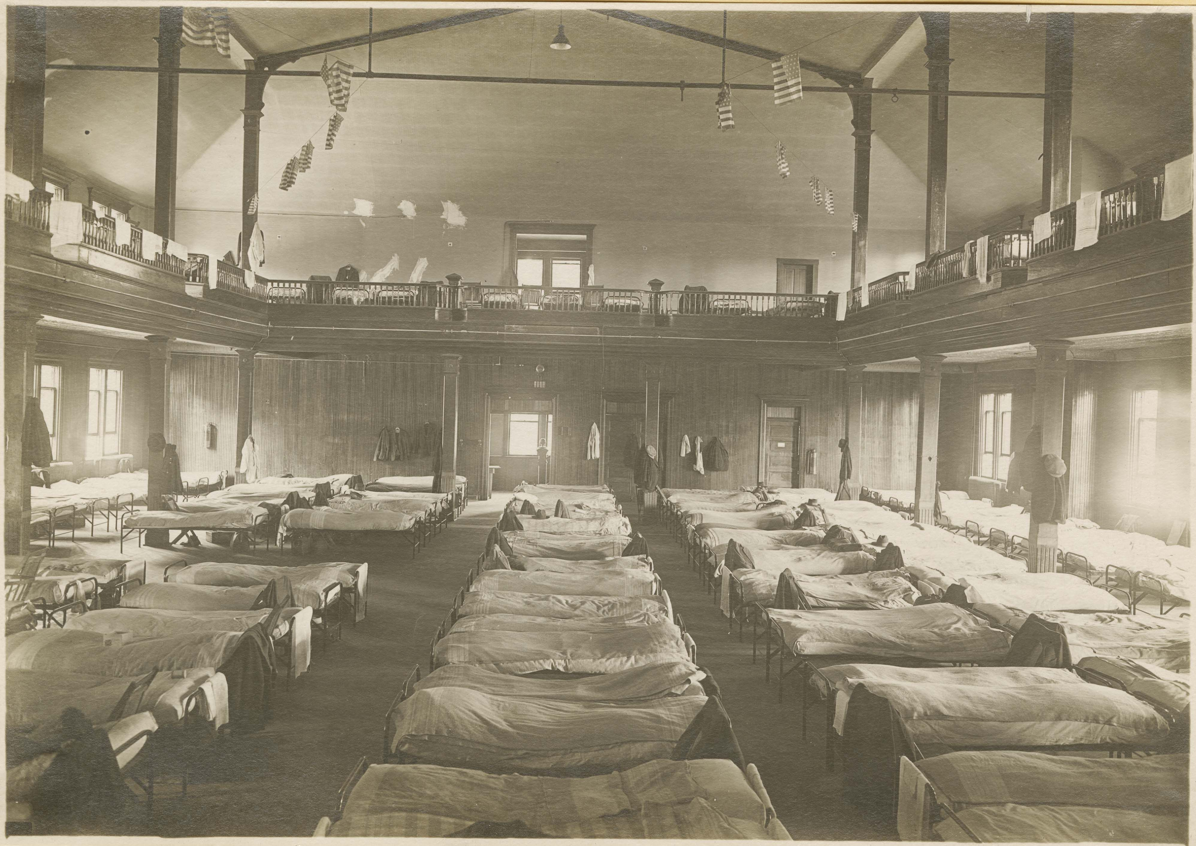The Spanish influenza epidemic, uniquely lethal in attacking young, healthy bodies, killed at least 20 million people worldwide, including an estimated 50,000 Canadians. The flu was spread through bodily fluids and moved quickly through the population. The flu presented itself through fatigue and cough, but quickly attacked the body, creating mucous build-up in the lungs that could not be expelled. Victims of the flu could be dead within a day of contracting the illness.