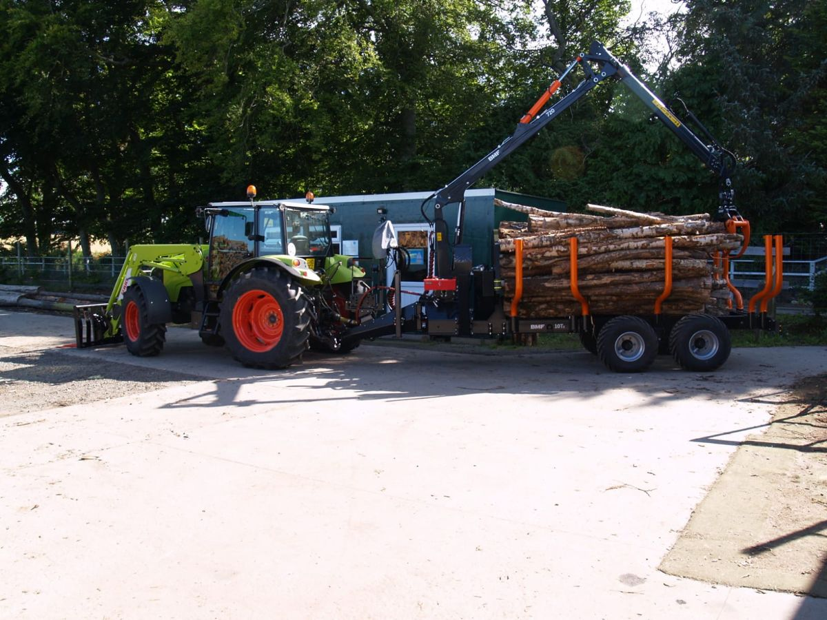 BMF Forestry Trailer and crane in 2020 Tree service