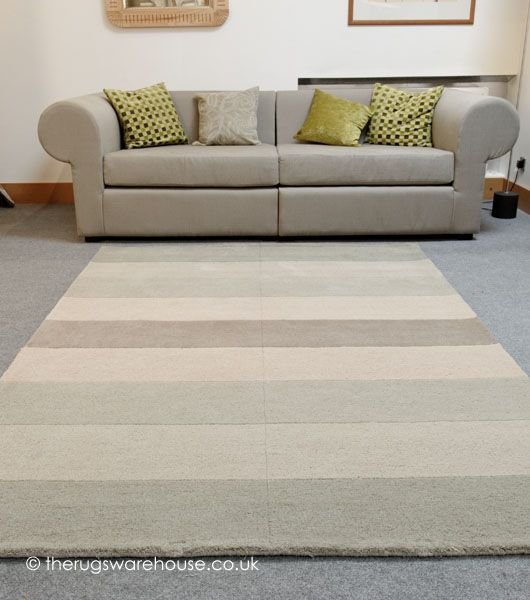 Grid Olive Rug Is A Subtle Mixture Of Neutral Green Beige And Grey Stripes
