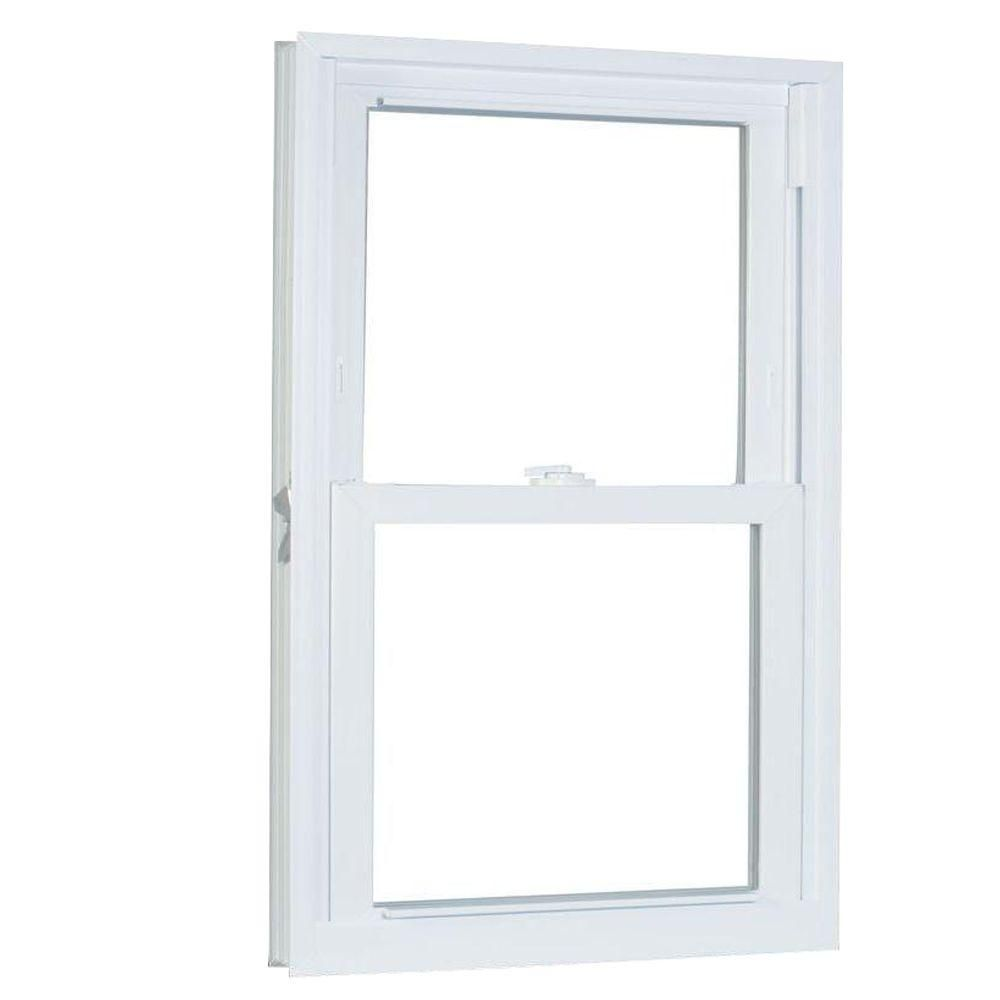 American Craftsman 23 75 In X 53 25 In 70 Series Pro Double Hung White Vinyl Window With Buck Frame Double Hung Windows Double Hung American Craftsman