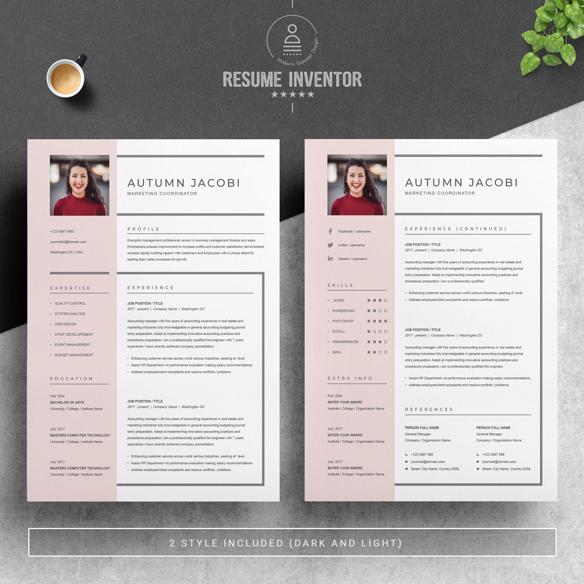 autumn resume template  75649