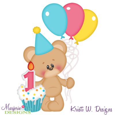 1st birthday bear fiesta pinterest cutting files bears rh pinterest com 1st birthday clip art images 1st birthday clipart images