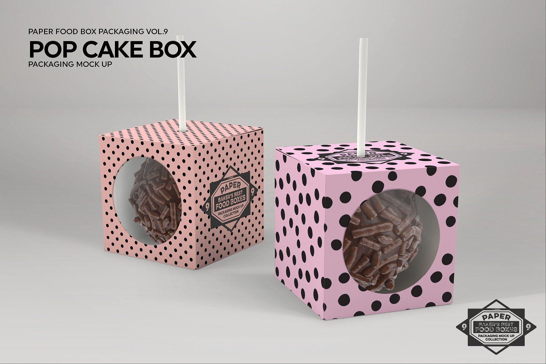 Download Cake Pop Box Packaging Mockup Cake Pop Boxes Food Box Packaging Box Packaging