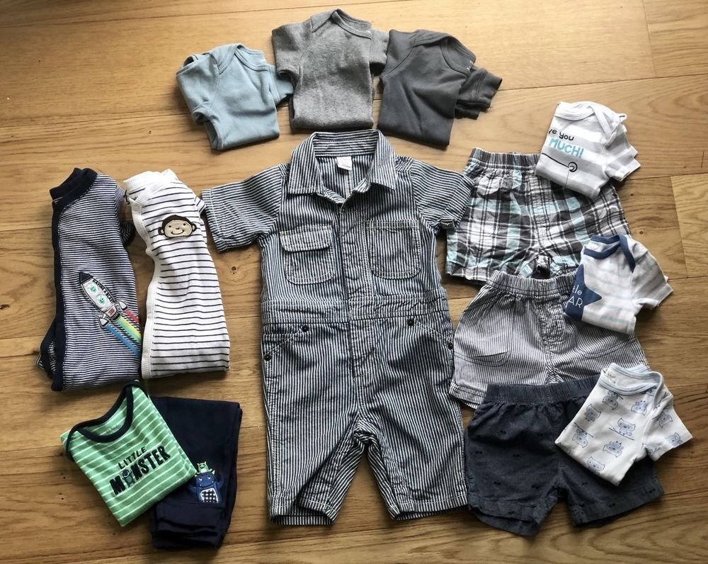 Lot 14 Pc Baby Boy Clothes Outfits Sets Sleepers Size 9 12 9 12 Months Carters Carters Clothing Girl Outfits Baby Boy Outfits