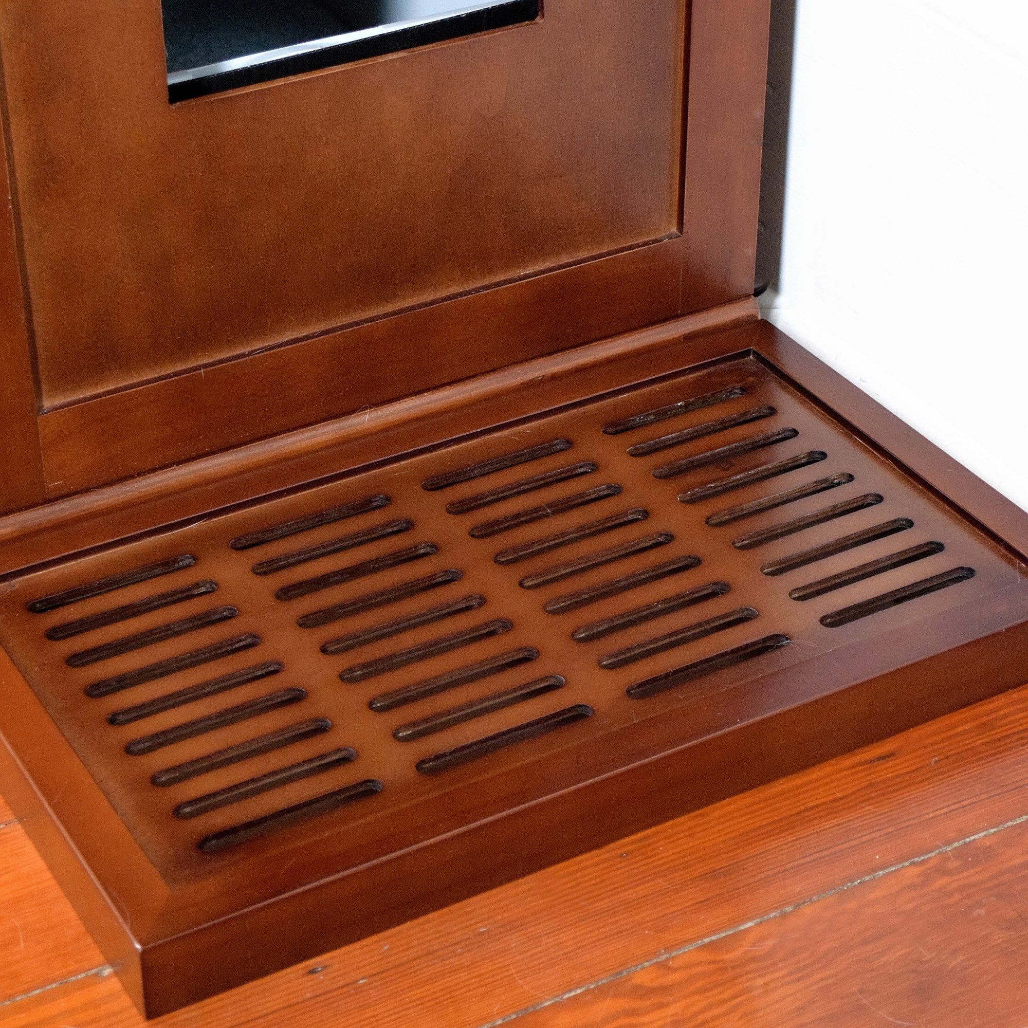 """Costruire Lettiera Per Gatti the refined feline litter catch box in mahogany, 20"""" l x 12"""