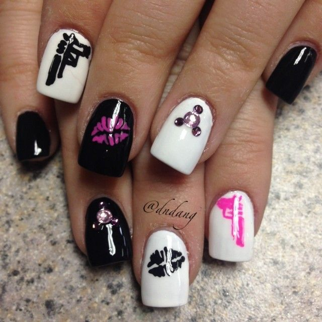 Badass nail art nail art pinterest badass makeup and nail nail badass nail art prinsesfo Image collections