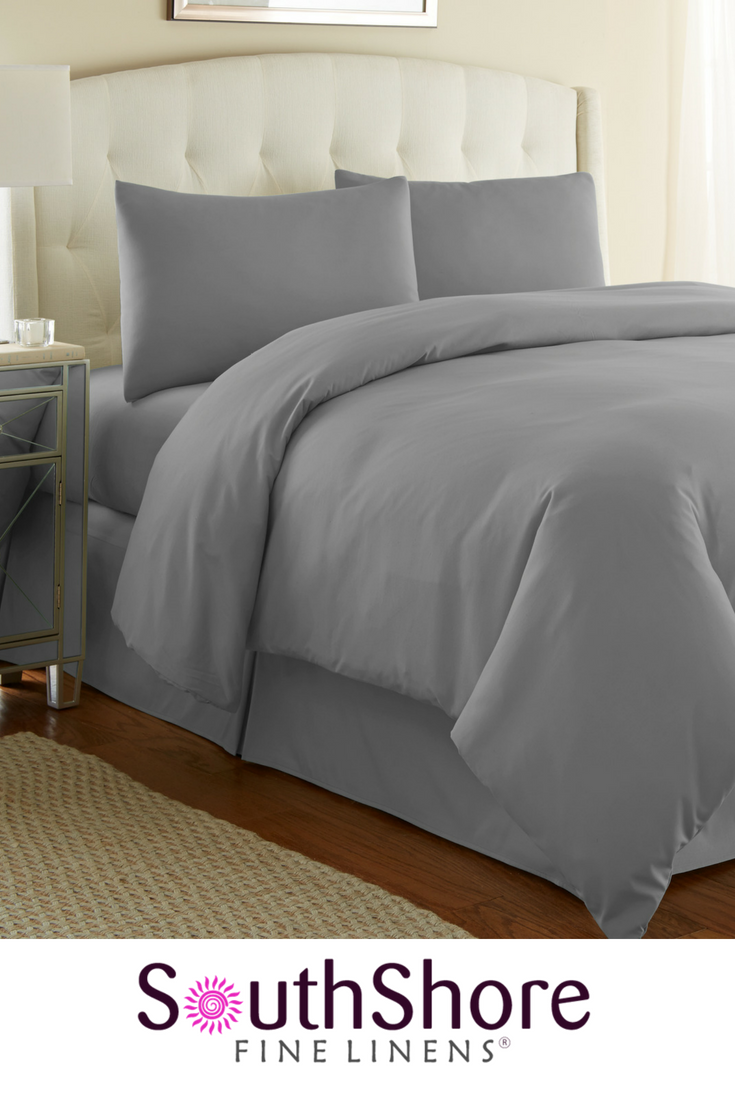 f6f665360e55f Steel Grey Oversized 3-piece Duvet Cover Set by Southshore Fine Linens  (more colors available) Shop our official online store for the best price,  ...