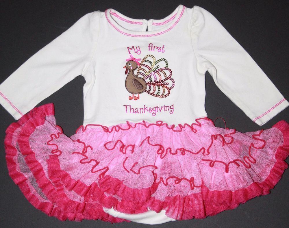 155f82cc1a2f Koala Kids Infant Size 3 Months My First Thanksgiving Sequin Bodysuit TuTu  Dress #KoalaKids #Holiday#Infant #Girls #Tutu #dress #baby #style #pink  #cute ...