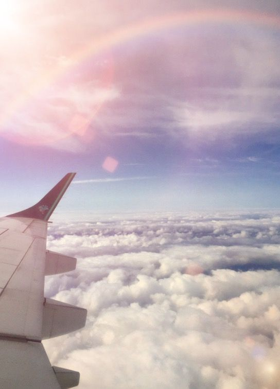 Sky Plane View Sun Clouds Scenery Wallpaper Sky Aesthetic Plane Photography