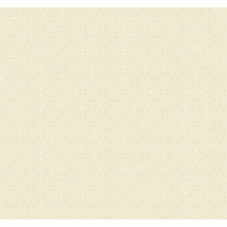 York Wallcoverings Beige Trista Removable Wallpaper, White