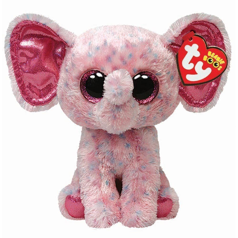 Ty Ellie the Pink Elephant Beanie Boos Stuffed Plush Toy  42bee3f6fbb4