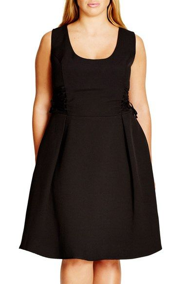 City Chic Corset Side Fit & Flare Dress (Plus Size) available at #Nordstrom
