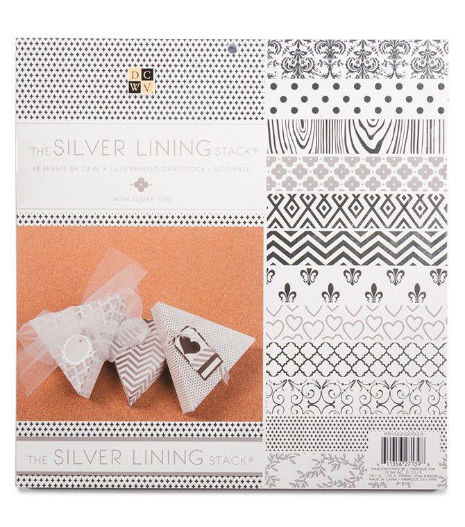 Dcwv The Silver Lining Stack 48 Sheets Of 12 X 12 Printed Cardstock Scrapbook 611356271398 Ebay Scrapbook Paper Scrapbook Planner Material