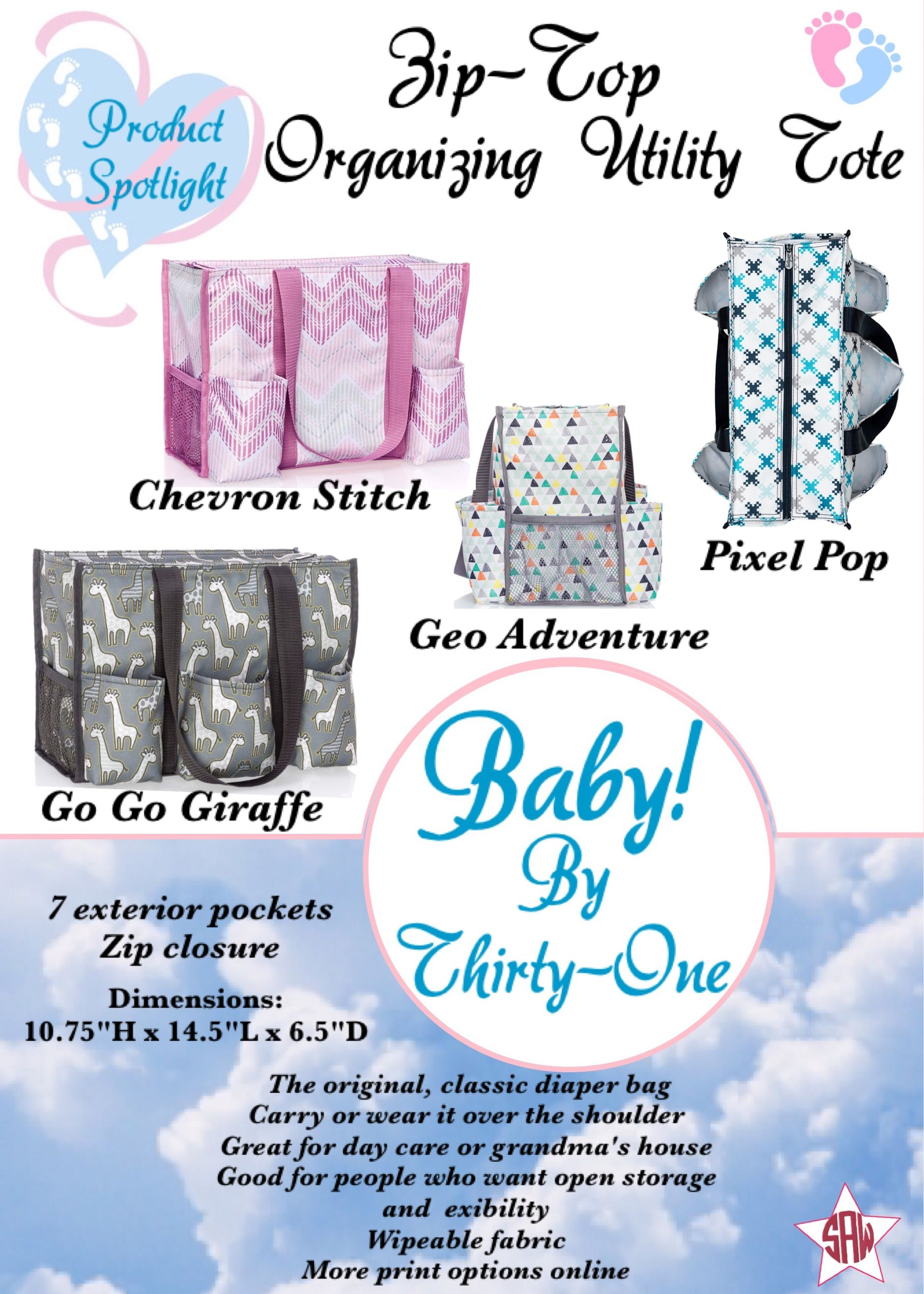 Baby By Thirty One Product Spotlight Zip Top Organizing Utility