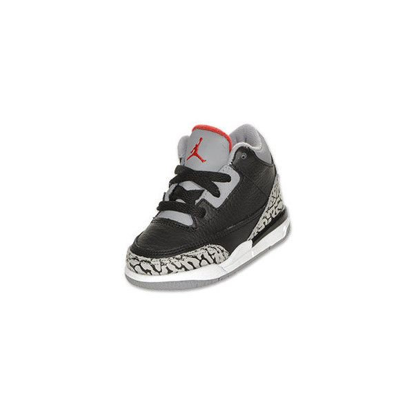 a13a87e3759 Boys' Toddler Air Jordan Retro 3 Basketball Shoes ($27) ❤ liked on Polyvore  featuring baby, baby shoes, shoes, baby boy and baby clothes