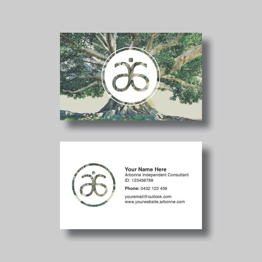 Arbonne Business Card Circle of Life Digital Design