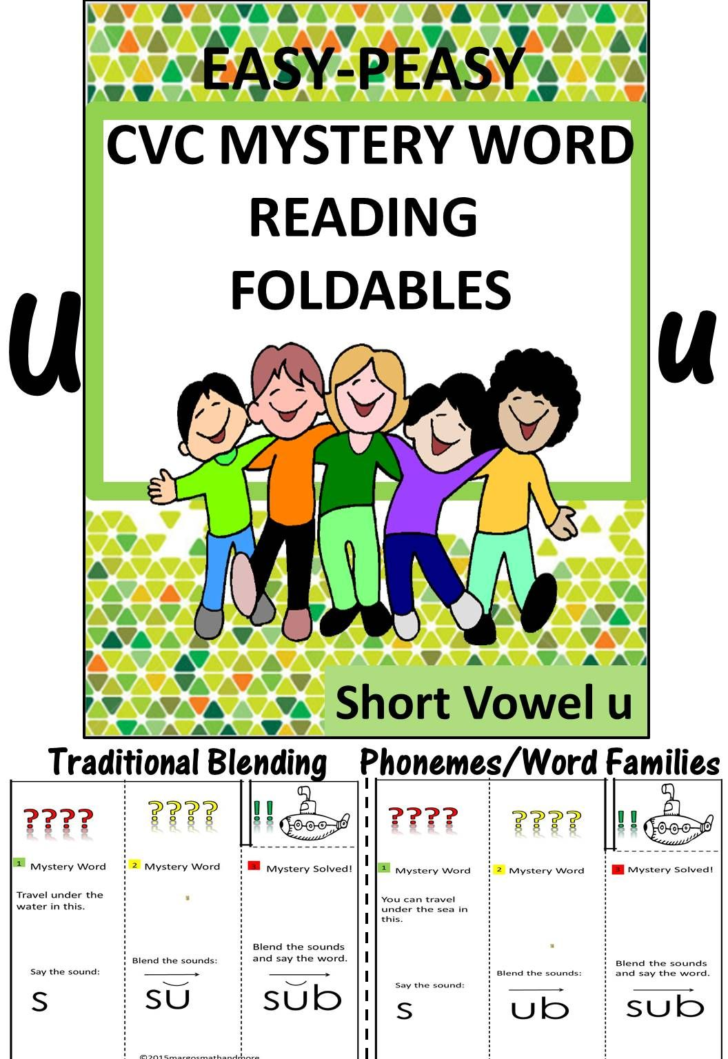 Distance Learning Cvc Mystery Word Reading Foldables Short