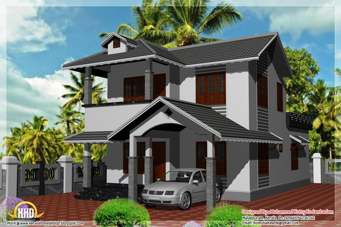 Bedroom sq ft kerala style house kerala house design idea for Kerala style home designs and elevations