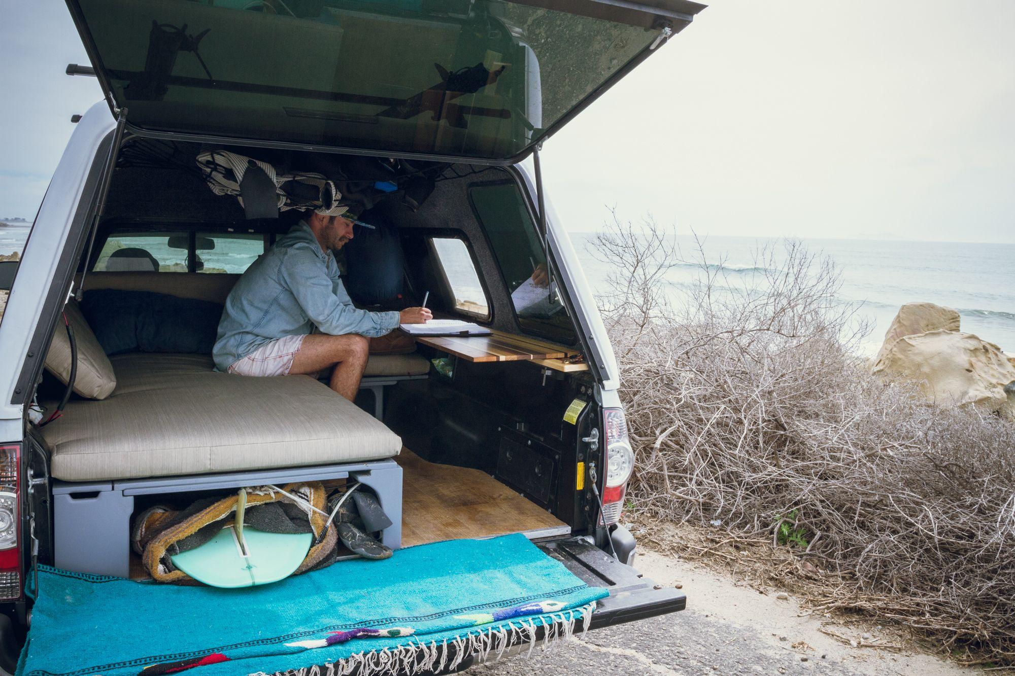 Mobile Office/Surf Camper — Rig Racks Truck bed