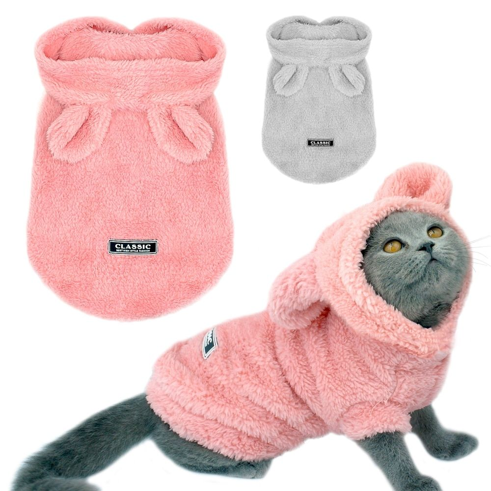 Warm Cat Clothes Winter Pet Puppy Kitten Coat Jacket For Small Medium Dogs Cats Chihuahua Yorkshire Clothing Costume Kitten Clothes Cat Clothes Cat Accessories