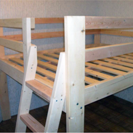 Free Woodworking Plans to Build a Full Sized Low Loft Bunk | The ...