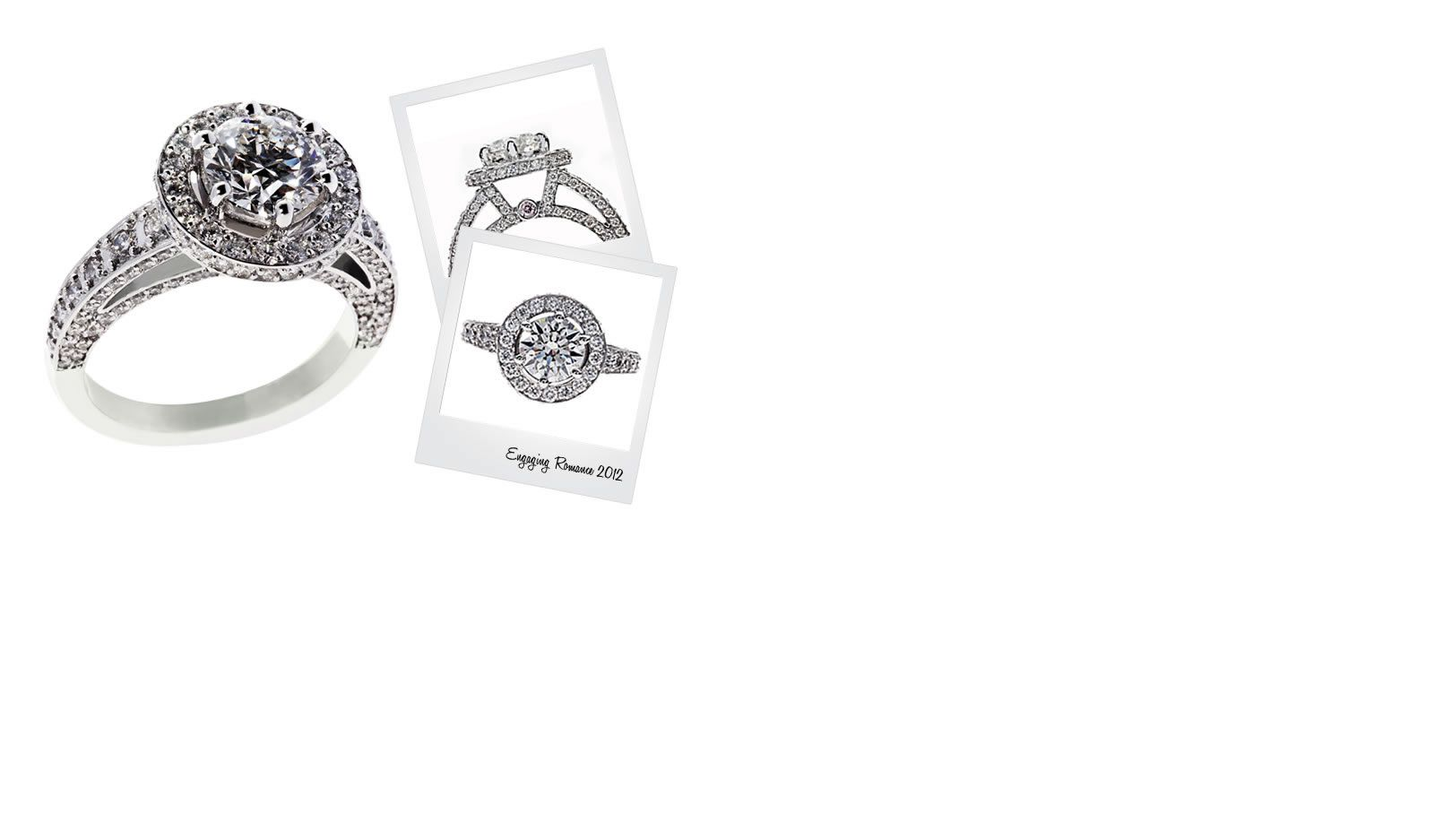 White Gold Diamond Rings, Diamond Rings, Engaging Romance™ 2012