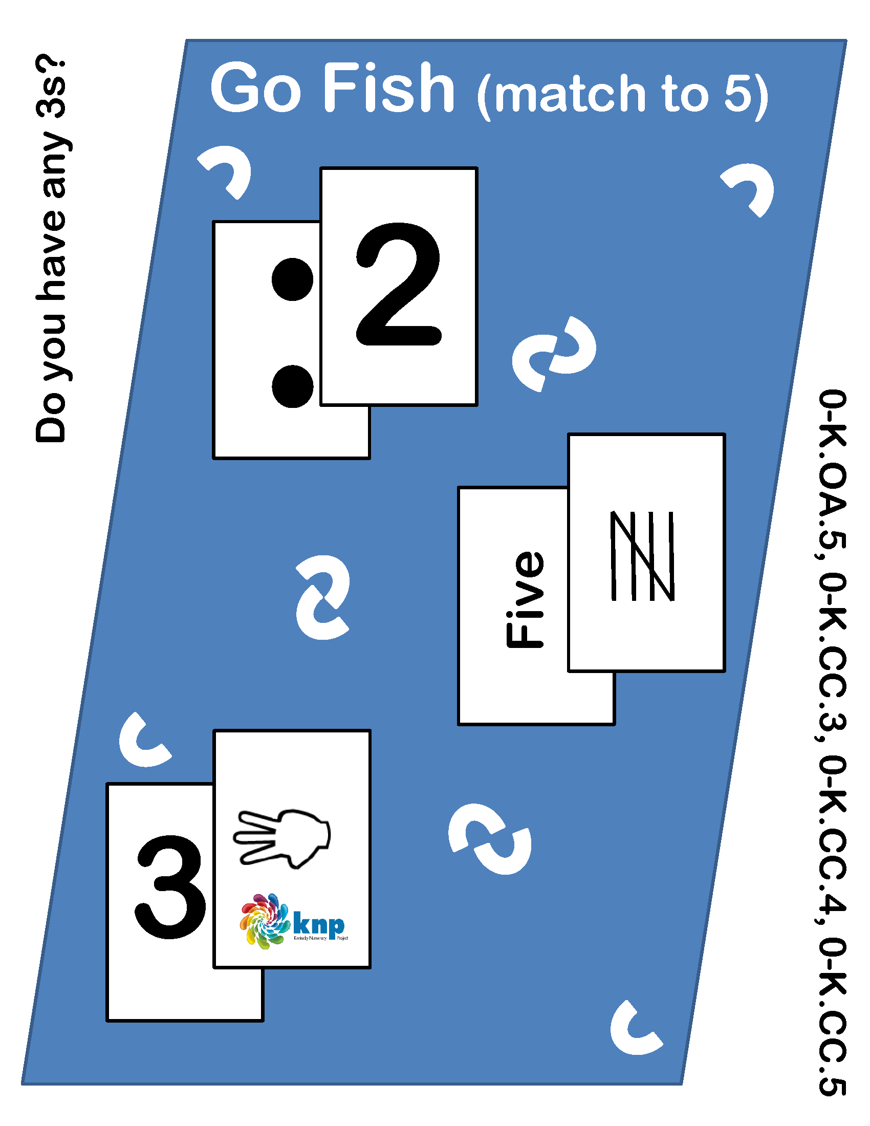 Go Fish Match To 5