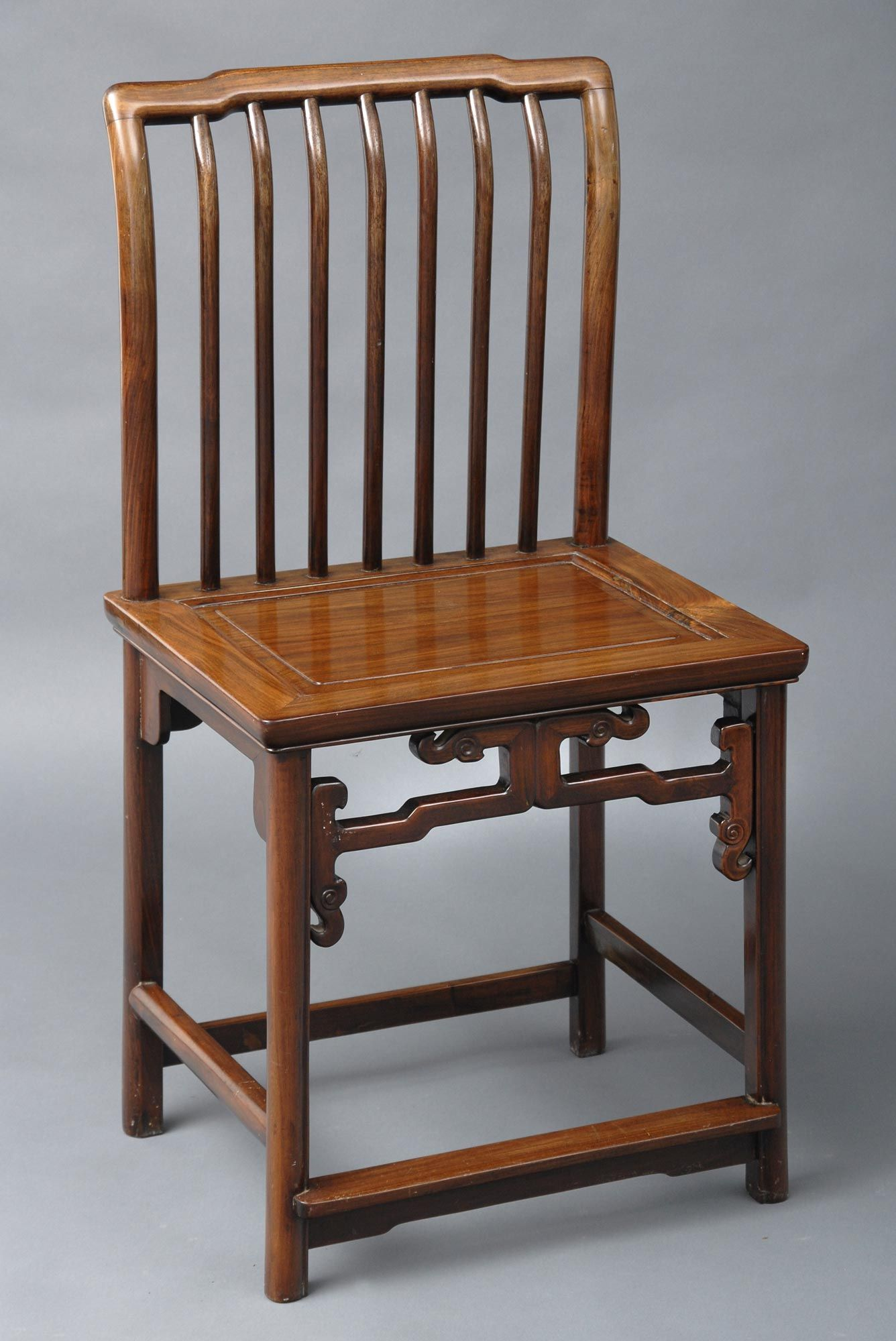 Chinese Antique Chair Chinese rosewood chair, shaped crest rail, curved  back splat, molded - Chinese Antique Chair Chinese Rosewood Chair, Shaped Crest Rail