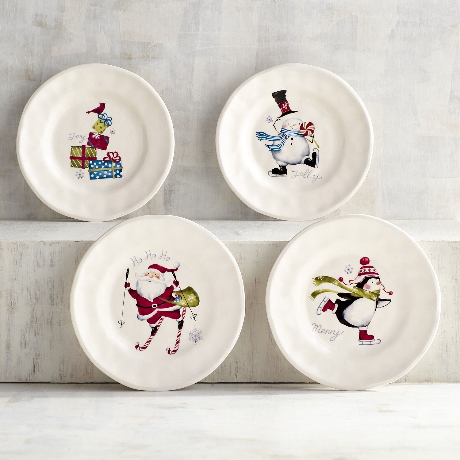 Iconic Christmas Appetizer Plates Set Of 4 & Iconic Christmas Appetizer Plates Set Of 4 | Christmas appetizers ...