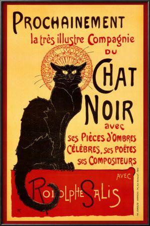 オールポスターズの黒猫, Tournée du Chat Noir, 1896アートポスター - テオフィル・アレクサンドル・スタンラン