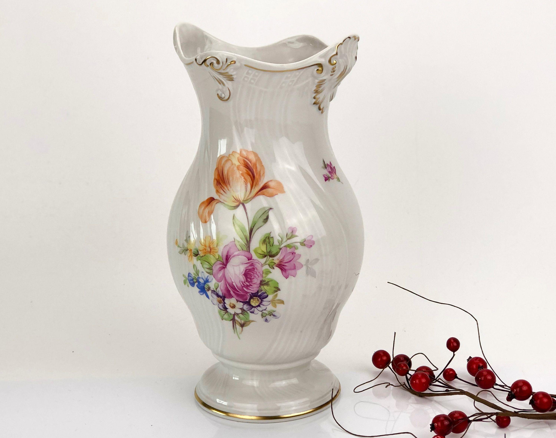 Hand-Painted Roses on Porcelain Vintage Czech Porcelain Pendant