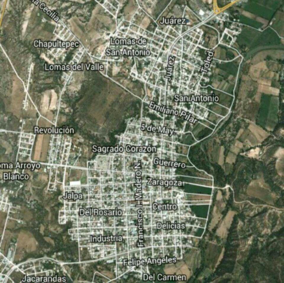 Jalpa Zacatecas Mexico Map.Mapa De Jalpa Zacatecas Jalpa Zacatecas